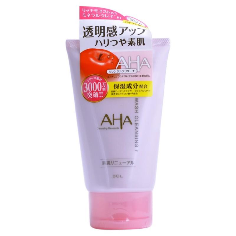 AHA WASH CLEANSING / Пена-скраб для лица  (с фруктовыми кислотами, минеральной глиной и увлажняющими компонентами)