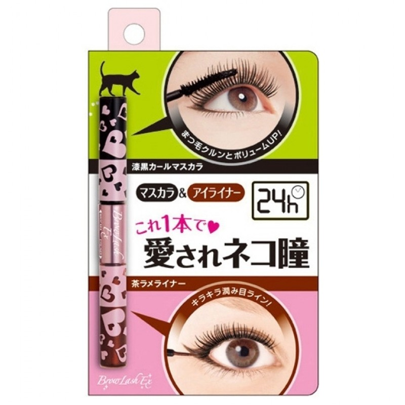 Brow Lash Ex Mascara & Eyeliner / Тушь для ресниц (объем и подкручивание), черная + подводка, золотисто-коричневая