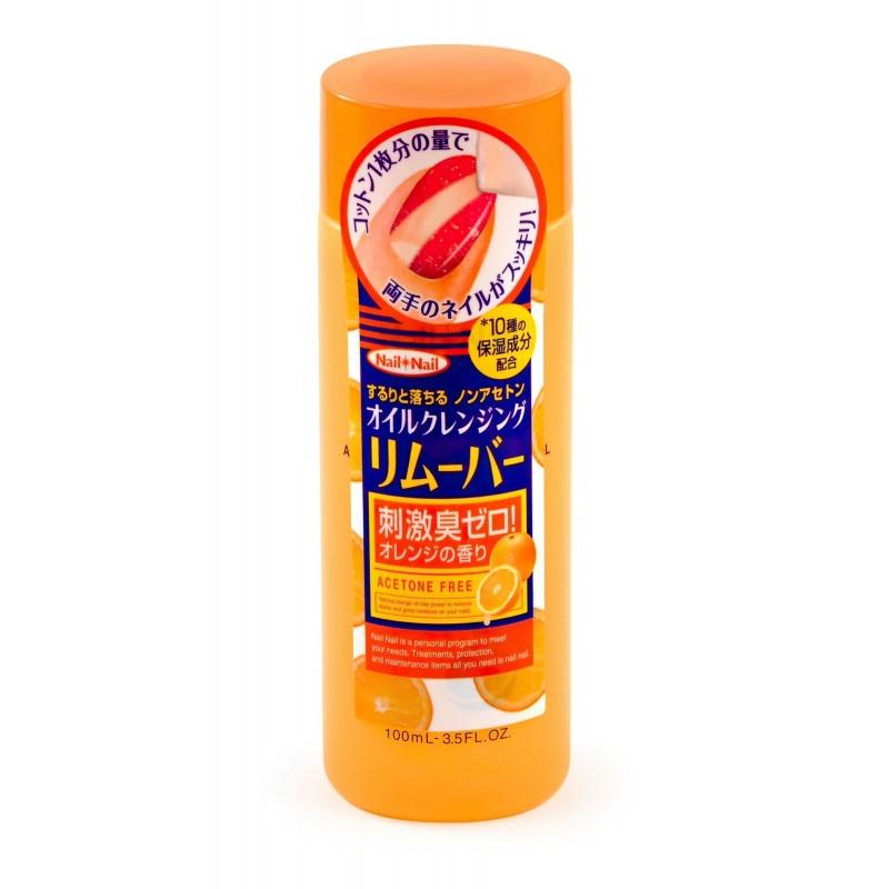 NAIL OIL REMOVER / Жидкость для снятия лака с апельсиновым маслом (без ацетона)
