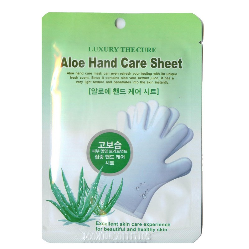 Aloe Hand Care Sheet / Маска для рук с экстрактом алоэ