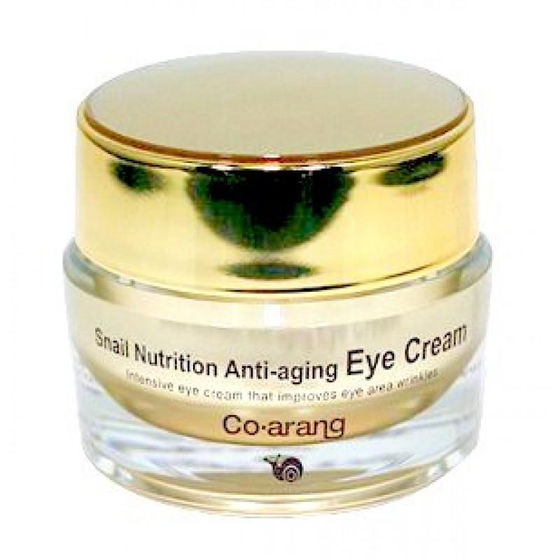 Snail Nutrition Anti-aging eye cream / Антивозрастной крем для кожи вокруг глаз с экстрактом слизи улитки