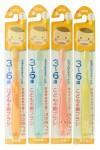 Набор детских зубных щеток с компактной чистящей головкой  для детей 3-6 лет, 4 шт
