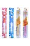 Набор мягких зубных щеток «Семейный»: для детей 4-10 лет и для взрослых с наночастицами золота, сверхтонкой двойной щетиной и компактной головкой, 4 шт.