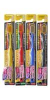 Набор: Зубные щетки с широкой чистящей головкой  и супертонкими щетинками, мягкие, 4 шт