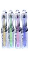 Nano Charcoal Toothbrush / Зубная щетка c древесным углем, сверхтонкой двойной щетиной (мягкой и супермягкой) и компактной головкой