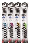 Nano Charcoal Toothbrush / Зубная щетка c древесным углем и сверхтонкой двойной щетиной (средней жесткости и мягкой) и прозрачной прямой ручкой
