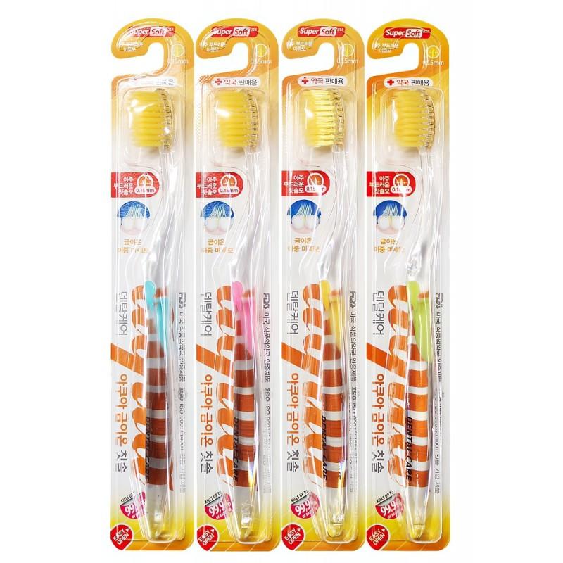 Nano Gold Toothbrush / Зубная щетка c наночастицами золота и сверхтонкой двойной щетиной (мягкой и супермягкой)