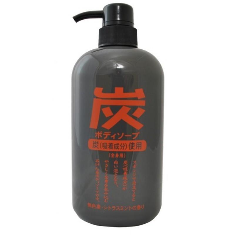 Charcoal body soap / Жидкое мыло для тела с древесным углем