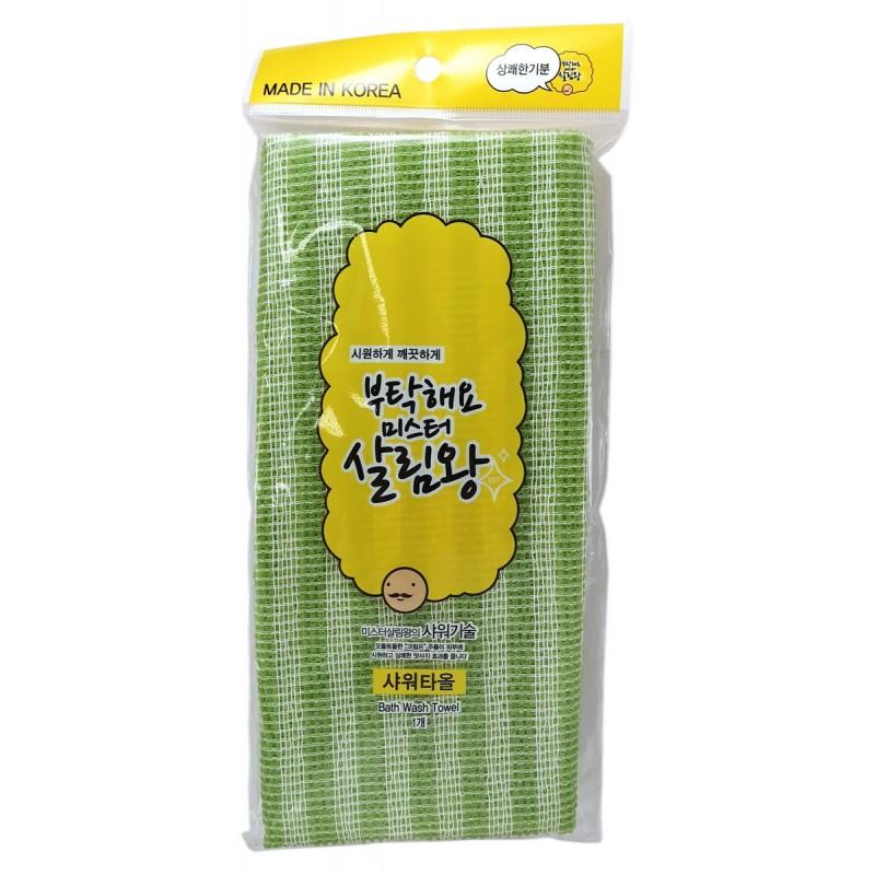 Green Bath Wash Towel / Массажная мочалка для тела средней жесткости