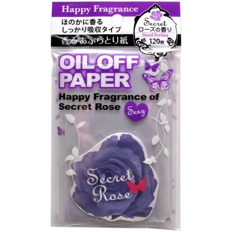 Oil Off Paper / Салфетки для снятия жирного блеска (с ароматом розы)