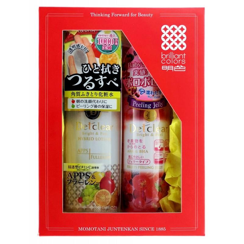 """MEISHOKU Detclear / Подарочный набор """"Очищение и увлажнение"""" Пилинг-гель с эффектом сильного скатывания с ароматом ягод,180 мл  + лосьон """"Очищение и увлажнение"""", 180 мл"""