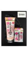 SANA Soy Milk / Подарочный набор «ОЧИЩЕНИЕ И УХОД С ИЗОФЛАВОНАМИ СОИ и Q10» (Пенка для умывания и снятия макияжа увлажняющая, 150 г + Увлажняющий крем, 50 г)