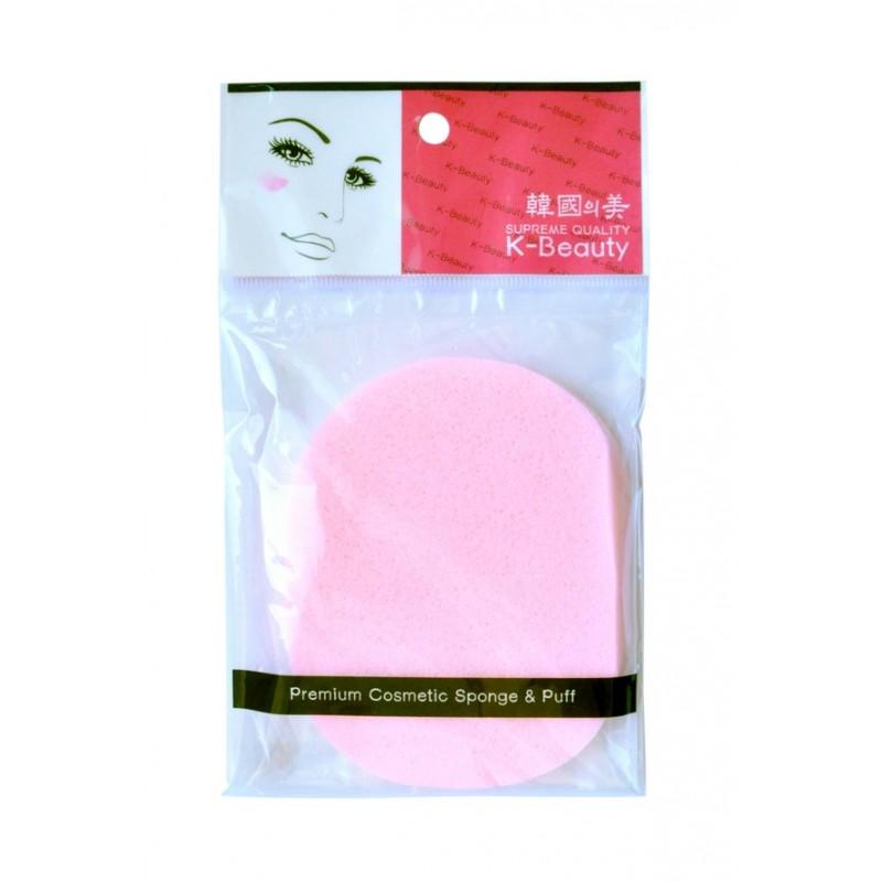 Спонж косметический для очищения кожи лица в индивидуальной упаковке, розовый