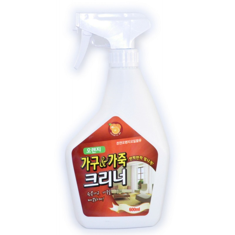 ORANGE POWER Furniture & Leather Protect Cleaner Жидкое средство для чистки мебели с апельсиновым маслом