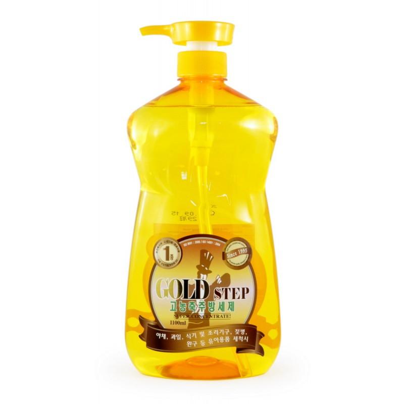 GOLD STEP Dishwashing liquid / Жидкость для мытья посуды (с частицами золота)