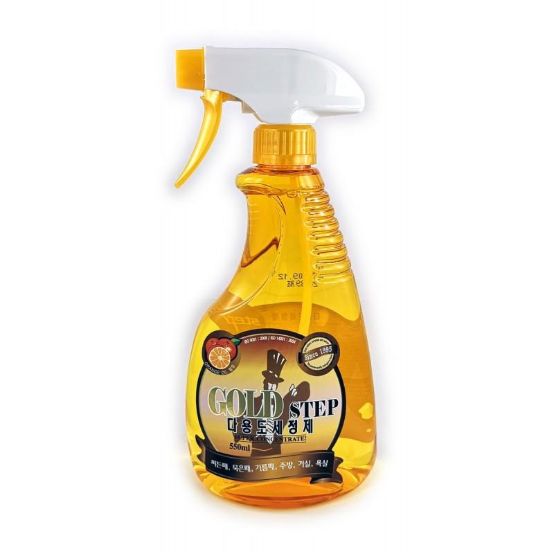 GOLD STEP Multi-Purpose Cleaner / Универсальное жидкое чистящее средство для дома (с частицами золота)