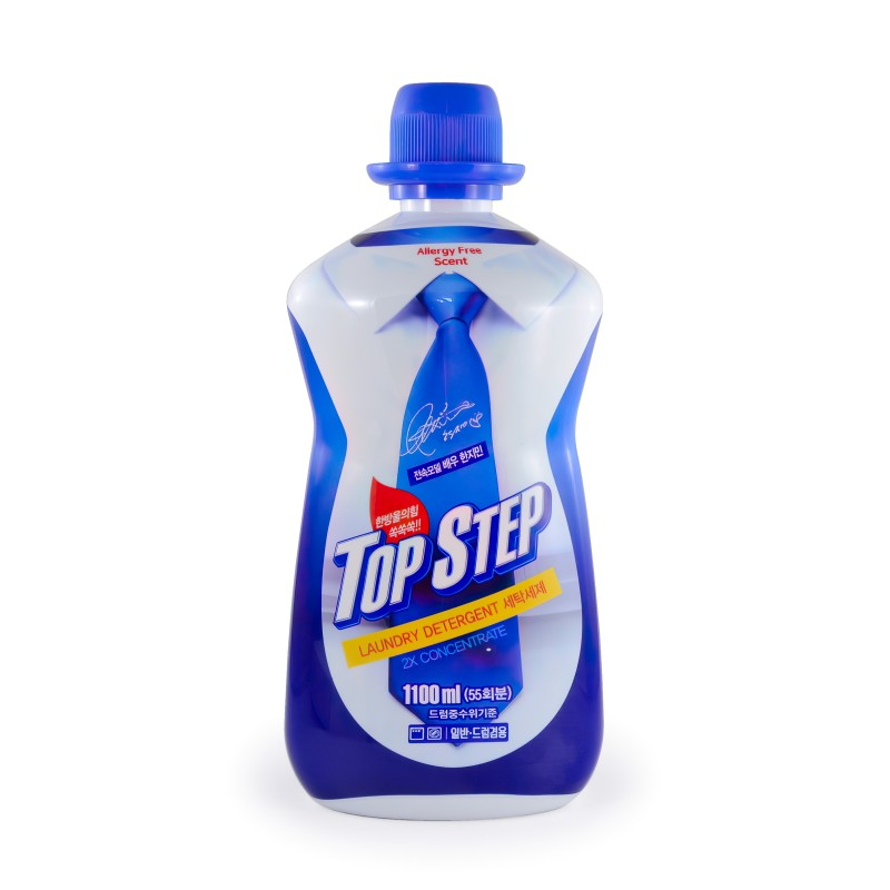 TOP STEP Laundry Detergent / Жидкое средство для стирки «TOP STEP - Сила 5 ферментов» (антибактериальное, биоразлагаемое)