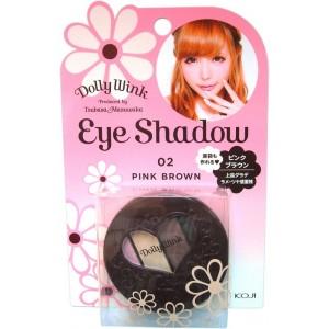 Dolly Wink Eye Shadow / Тени для век 4-х цветные (02 - розовый и коричневый)