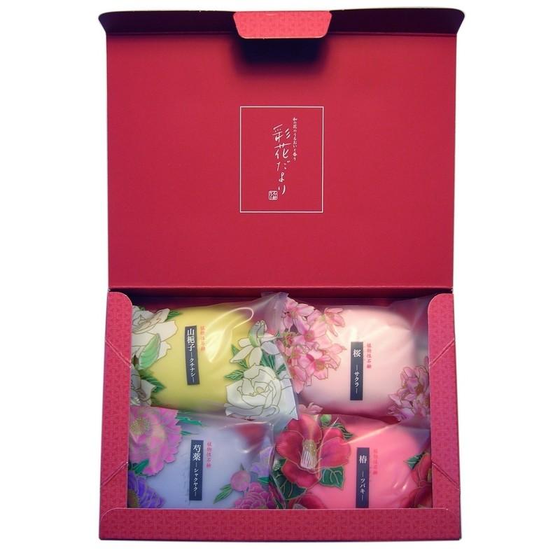 """Saika Dayori soap set / Набор """"Цветы и травы"""" (4шт.)"""
