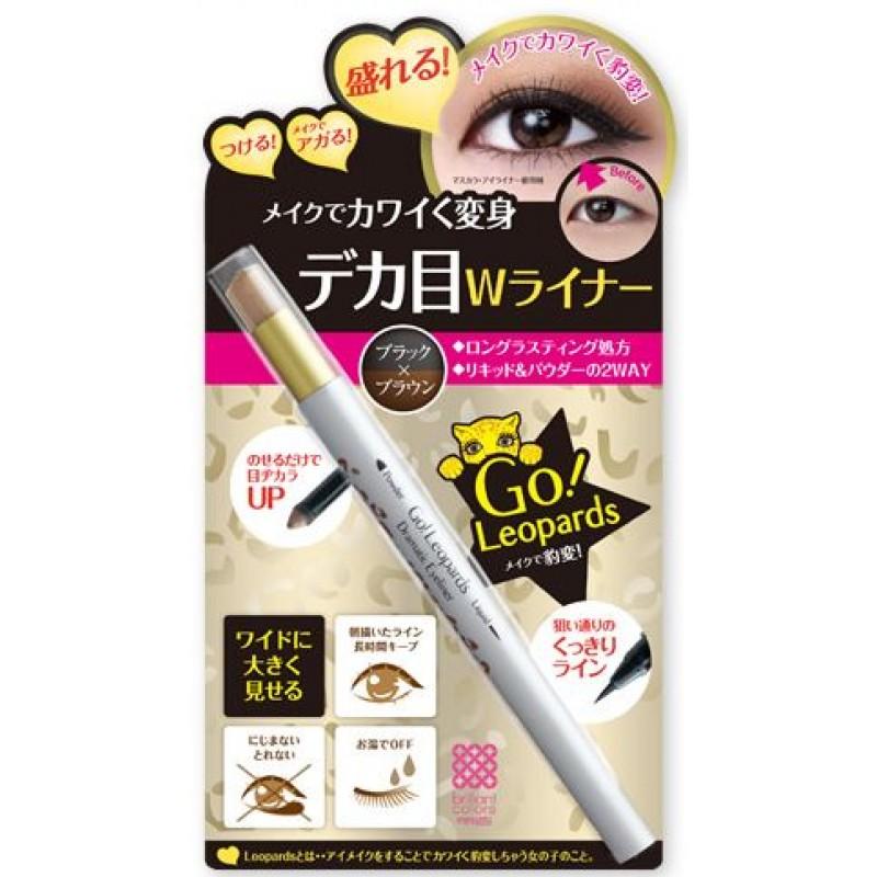 Powder & Liquid Dramatic Eyeliner / Влагостойкая жидкая подводка + тени-карандаш для век