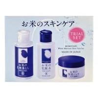Rice Moisture Travel set / Дорожный набор средств с экстрактом риса (очищающий лосьон для снятия макияжа + увлажняющий лосьон + увлажняющий крем)