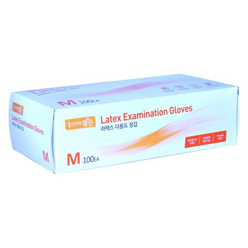 RUBBER GLOVE Examination / Перчатки латексные (100 шт / упак, размер M)