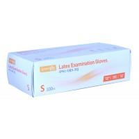 RUBBER GLOVE Examination / Перчатки латексные (100 шт. упак, размер S)