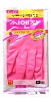HYGIENIC GLOVE  PVC / Перчатки из ПВХ с хлопковым напылением  (размер М)