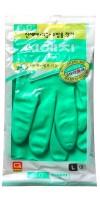 HYGIENIC GLOVE  PVC / Перчатки из ПВХ с хлопковым напылением  (размер L)