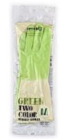 RUBBER GLOVE TWO TONE / Перчатки латексные хозяйственные двухцветные  размер M