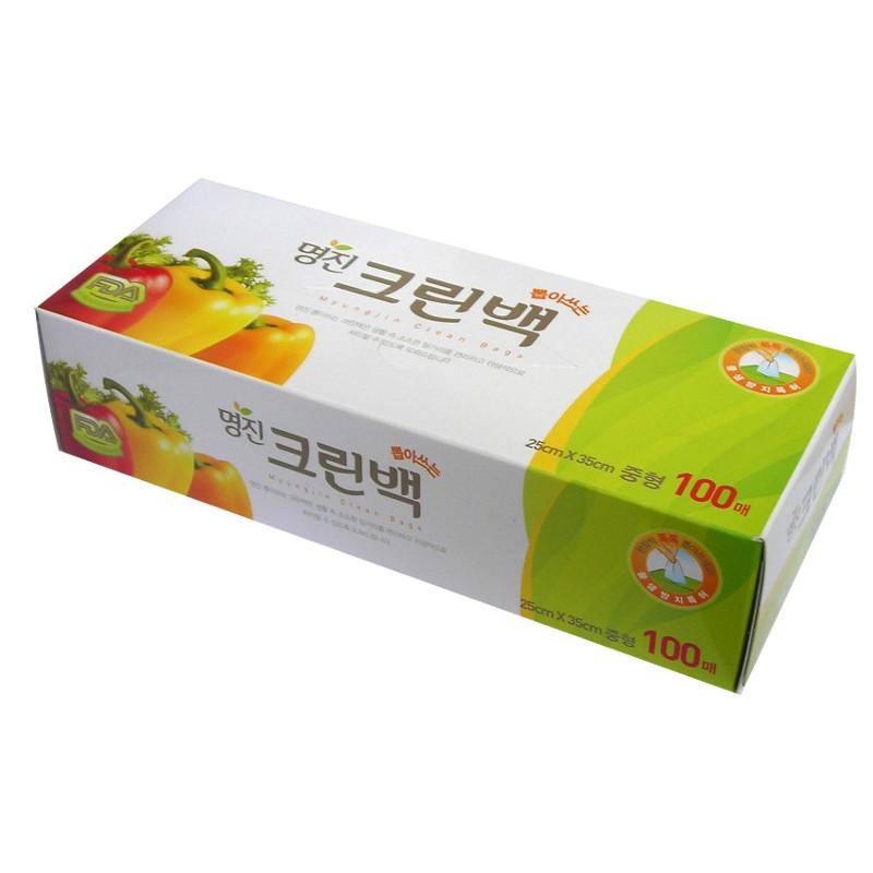 MYUNGJIN  BAGS / Tissue type Пакеты полиэтиленовые пищевые в коробке (25 см. x 35 см.)