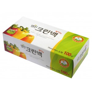 MYUNGJIN  BAGS Tissue type / Пакеты полиэтиленовые пищевые в коробке (17 см. x 25 см.)
