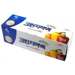 MYUNGJIN  BAGS Double Zipper type / Пакеты полиэтиленовые пищевые с двойной  застежкой – зиппером (в коробке) (18 см. x 21 см.)