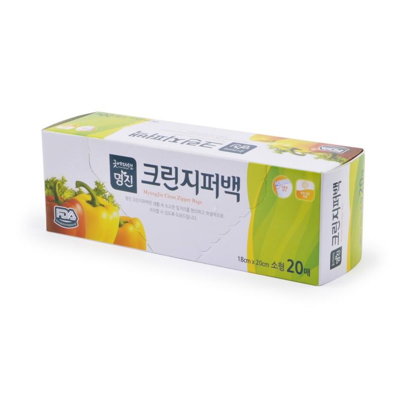 MYUNGJIN  BAGS Zipper type / Пакеты полиэтиленовые пищевые с застежкой – зиппером (в коробке) (18 см. x 20 см.)