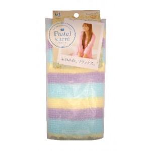"""PASTEL BODY TOWEL / Мочалка для тела с добавление хлопка""""Радуга"""" (мягкая)"""