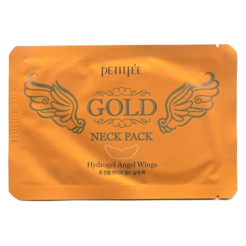 PETITFEE GOLD NECK PACK / Гидрогелевая маска для кожи шеи (с золотом и экстрактом улитки)