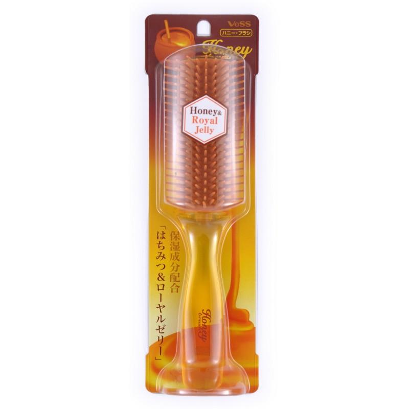 Honey Brush / Щетка массажная для увлажнения и придания блеска волосам с мёдом и маточным молочком пчёл