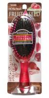 FRUIT SEED BRUSH / Увлажняющая расческа для волос с маслом семян клюквы (круглая)
