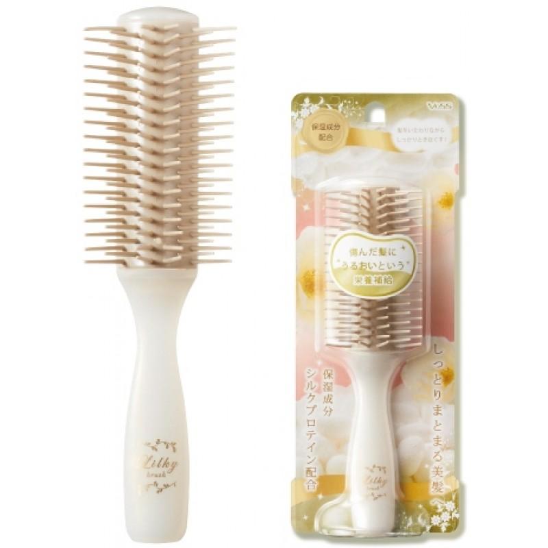 Likly brush / Щетка массажная для увлажнения и придания блеска волосам с протеинами шелка (малая)