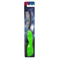 Travel Toothbrush / Зубная щетка со сверхтонкой двойной щетиной, средней жесткости складная, стандартная чистящая головка