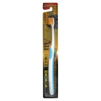 Nano Gold Toothbrush / Зубная щетка c наночастицами золота, сверхтонкой двойной щетиной, средней жесткости, суперкомпактная чистящая головка.